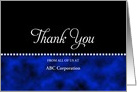 From Business Thank You Card-Customizable Text-Blue and Black card