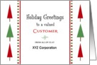 For Customer Christmas Card-Customizable Text-Christmas Tree Border card