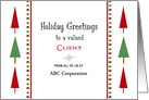 For Client Christmas Card-Customizable Text-Christmas Tree Border card