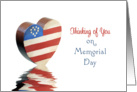 Memorial Day Greeting Card-Heroes-Thinking of You Card-Patriotic Heart card