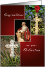 Congratulations on Your Ordination Greeting Card-Crosses-Jesus card