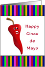 Happy Cinco De Mayo Greeting Cards-Chili Pepper card
