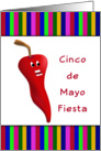 Cinco De Mayo Fiesta Party Invitation-Chili Pepper card