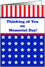 Memorial Day Greeting Card-Stars and Stripes card