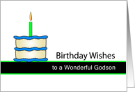 Godson Birthday Wishes - Cake and Candle card