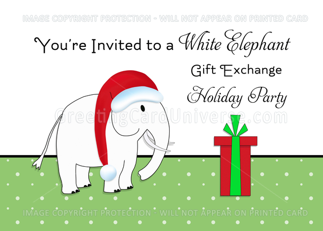 Buy gift cards exchange - White Elephant Greeting Cardgift Exchange Presents Gifts card