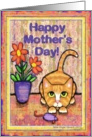 Ginger Tabby Cat Mother's Day Card