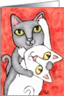 Tango Cats Cat Engagement Card