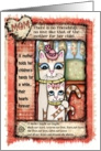 Cat Mom & Kitten Birthday Card