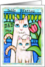 Cat Dad & Kitten Birthday Card