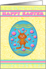 Happy Easter Chocolate Bunny 3 card