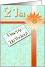 Happy 21 st Birthday card