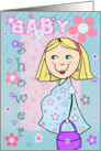 Baby shower Invitation - Blonde Mom To Be card