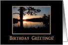 Mountain Sunset, Birthday Greetings! Greeting Card