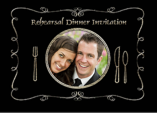 Rehearsal Dinner Invitation Photo Card, Place Setting Greeting Card