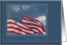 Flag in the Clouds, Congratulations on Becoming a U.S. Citizen card