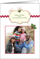 Holiday Tag, Holiday Photo Card