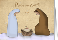 Nativity, Peace on Earth Christmas Greeting card