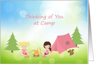 Girls at Summer Camp, Thinking of You card