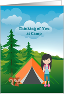 Thinking of you at Camp, Girl card