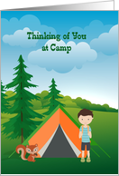 Thinking of you at Camp, Boy card