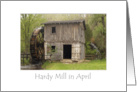 Hardy Mill in April card