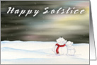 Winter Solstice - Polar Bears card