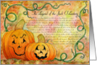 Legend Of the Jack O'Lantern Card