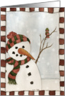 Snowman and Little Bird Card