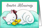 Easter Blessings Cat Card