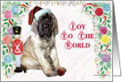 Joy to the World Mastiff card