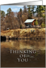 Thinking of you, Cabin by the Lake card