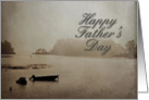 Happy Father's Day, Boat in Lake card