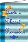 Have A Blessed Ramadan - Leaves card