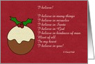 Christmas with Christmas pudding card