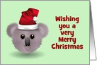 Christmas photo card with Australian koala Australia card