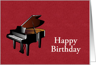 Happy Birthday with piano for pianist or musician card