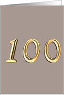 100th - 100 - HAPPY BIRTHDAY card