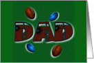 Father's Day football gridiron Dad card