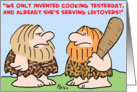 caveman invented leftovers card