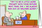 IRS, taxes, welfare, money card