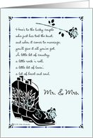 Country Wedding Congratulations card