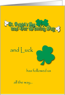 St. Patrick's Wedding Anniversary card