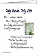 My Bride, My Life card