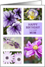 Lavender hues floral birthday card for mum card