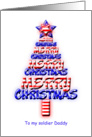 For daddy, Patriotic Christmas Tree card
