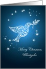 Add a name, Dove of peace Christmas card