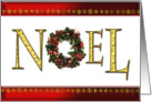 Noel, an elegant Christmas card