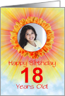 18th birthday sunshine flower photo card