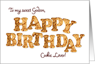 Godson a Birthday card for a cookie lover card